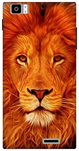 The Racoon Grip Face of the Lion hard plastic printed back case for Lenovo K900
