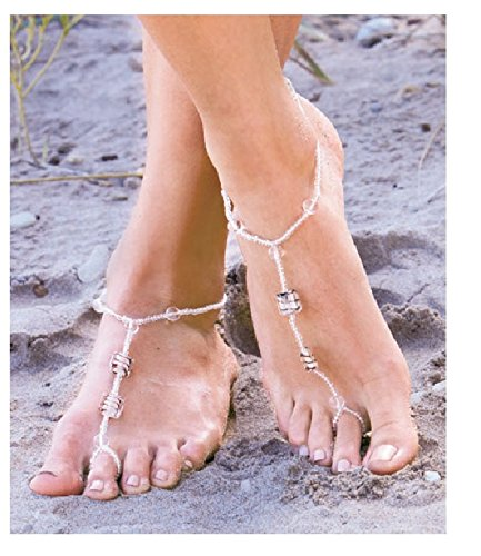 3-Pair Barefoot Jewelry Set - You get 3 Pairs! (Toe Rings And Anklets compare prices)