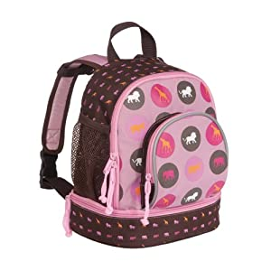 Lassig Savannah Print Pink Mini Backpack