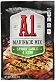 A.1. Marinade Mix Packet, Savory Garlic and Herb, 1.25 Ounce (Pack of 6)