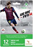 Xbox Live Gold 12+1 Monate Prepaidkarte FIFA 14