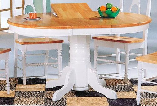 Round/Oval Two Tone Dining Room Kitchen Table - Coaster 4254