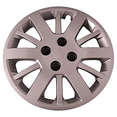Set of 4 Silver 15 Inch Aftermarket Replacement Hubcaps with Bolt On Retention System - Part Number: IWC453/15S