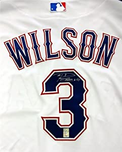 Russell Wilson Autographed Hand Signed Texas Rangers Authentic Majestic Cool Base... by Hall of Fame Memorabilia