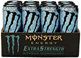 Monster Energy Extra Strength Drink, Black Ice, 12 Ounce (Pack of 12)