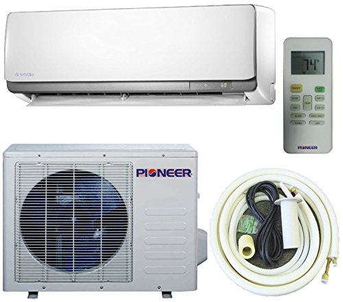 Pioneer 12,000 BTU (1 Ton) Ultra High Efficiency 22.0 SEER Ductless Mini Split INVERTER Air Conditioner with Heat Pump, Complete Set (Pioneer Mini Split Inverter compare prices)