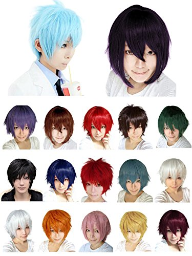 HnB Multicolors Short Straight Costume Party Cosplay Wigs
