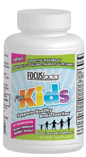 Factor Nutrition Labs Focus Factor for Kids, 60-Chewable Wafers Bottle