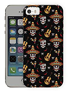 """Humor Gang Mexican GuitarPrinted Designer Mobile Back Cover For """"Apple Iphone 5-5S"""" (3D, Matte, Premium Quality Snap On Case)..."""
