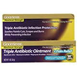 GoodSense Maximum Strength Triple Antibiotic Ointment plus Pain Relief, 1 Ounce