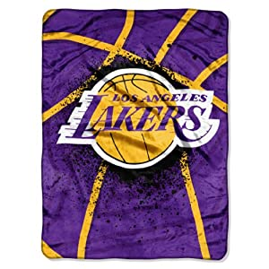 NBA Los Angeles Lakers Shadow Play Royal Plush Raschel Throw Blanket, 60x80-Inch by Northwest