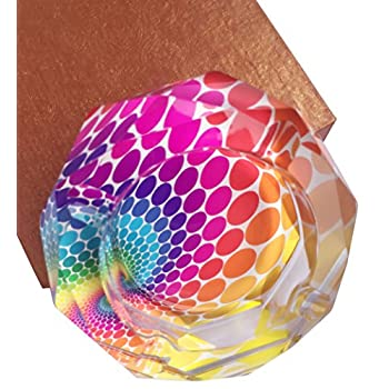 Peacock Pattern Crystal Cigarette Ashtray , Home Office Tabletop Beautiful Decoration Craft (large)