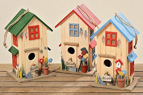 vogelhaus vogelh uschen rot nistkasten holz deko h26cm. Black Bedroom Furniture Sets. Home Design Ideas
