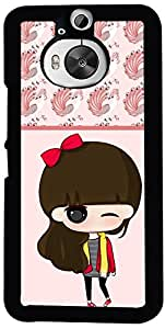 Printvisa Cartoon Pattern Girl Case Cover for HTC One M9+ (2D-HTCM9+-D7712)