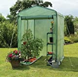 "Gardman 7622 Walk-In Greenhouse with Shelving 63"" long x 41"" deep x 63"" high (Includes Shelving)"