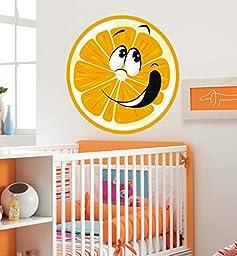 ced124 Full Color Wall decal Sticker orange fruit emotions bedroom children\'s room