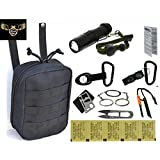 VAS BLACK OPS SURVIVAL PACK 3 W SURVIVAL FIRE STARTER, WHISTLE, SAW & 11N1 SURVIVAL TOOL PLUS KATADYN MICROPUR WATER PURICATION TABLETS & ON SALE W FREE BONUS