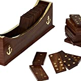 Crafts'man Dominoes Set Boat Tray Unique Handcrafted Toys And Board Games For Adult Best Gift Idea...