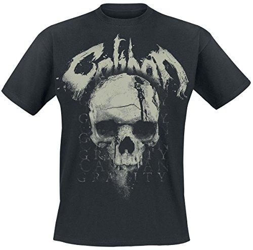 Caliban Gravity Skull T-Shirt nero S