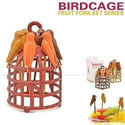 Birdcage Fruit Fork Birds Fork Cutlery