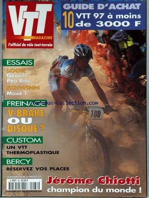 vtt-magazine-no-88-du-01-11-1996-guide-dachat-look-gravity-pro-ride-schwinn-moab-1-freinage-v-brake-