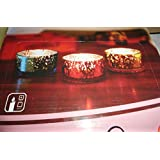 Atorakushon Smokeless Scented Decorative Bowl Glass Wax Pack Of 3 Designer ILLUSION Color Enchanting Candles For...