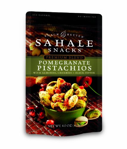 Sahale Snacks Pomegranate Pistachios with Almonds, Cherries, Black Pepper, 4-Ounce (Pack of 6)