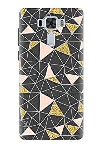 Noise Designer Printed Case / Cover for Asus ZenFone 3 Laser ZC551KL with 5.5 inch screen size / Bling / Shimmer Abstract