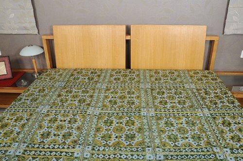 Imagen 4 de Colcha doble con bordado a mano y el trabajo del espejo Tamaño 84 x 101 pulgadas