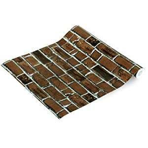 Brick Wall Self Adhesive Wallpaper Home Decor Roll Brick Wallpaper For Walls