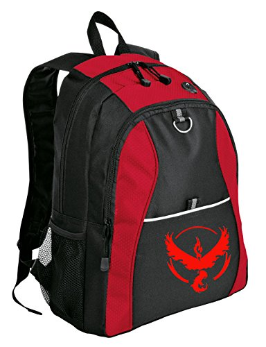 Official Pokemon Go Emblem Backpack (Team Valor and Team Mystic) (Valor (Red))
