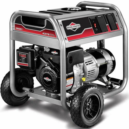 Briggs & Stratton 30466 3,500 Watt 250cc Gas Powered Portable Generator With Wheel Kit
