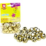 Creative Hands by Fibre-Craft - 20-Piece 25mm Gold Jingle Bells Pack
