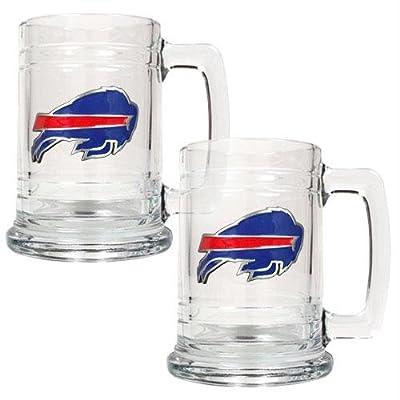 NFL Two Piece 15-Ounce Glass Tankard Set- Primary Logo
