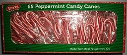 Brach\'s Peppermint Candy Canes 9.75 Oz Box (65 Ct)