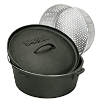Bayou Classics Cast Iron Dutch Oven with Aluminum Basket by Barbour International Inc