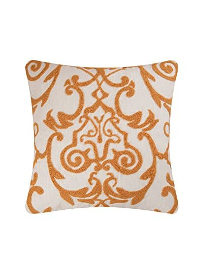 Florence Tufted Pillow, Gold/White