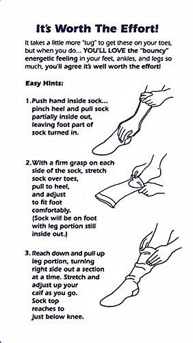 EvoNation Women's USA Made Thigh High Graduated Compression Stockings 20-30 mmHg Firm Pressure Ladies Sheer Socks Lace Top Quality Support Hose - Best Comfort Circulation (Medium, Black) (Color: Black, Tamaño: Medium)