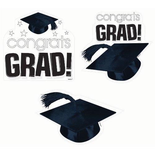 Congrats Grad White Cutouts