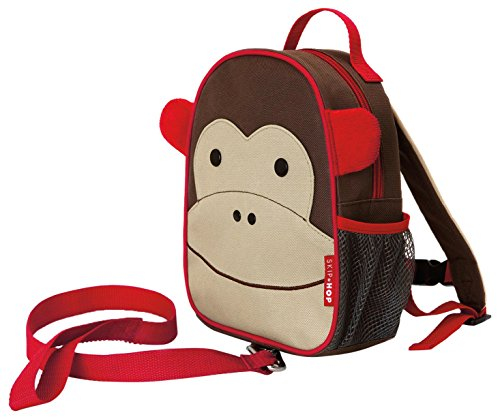 Skip Hop Zoo Little Kid & Toddler Safety Harness Backpack (Ages 2+), Multi, Marshall Monkey (Skip Hop Harness compare prices)