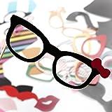 ZOGIN-Kit-de-Accesorios-Photocalls-Mscaras-Disfrazadas-de-Mascarada-con-Bigotes-Labios-Corbatas-Gafas-y-Sombreros-Para-Fiesta-Mascarada-Fiesta-de-Navidad-Bodas-Aniversarios-Cumpleaos-58-Piezas