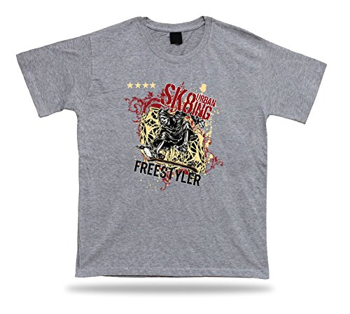 Tshirt Tee Shirt Idea regalo di compleanno ultima Grim Reaper Skate sport estremo