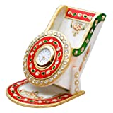 Jaipur Raga Beautiful Elegant Desktop Clock With Mobile Stand