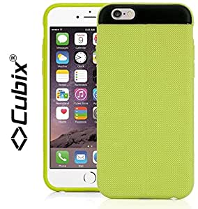 CUBIX Apple iPhone 6 Case Cover T Line (Exact-Fit) Grip Flip TPU Jacket Back Case Cover For Apple iPhone 6 (Green)