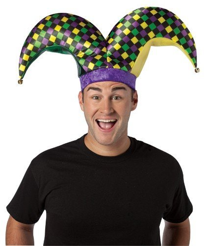 Rasta Imposta 2 Prong Jester Hat, Multi, One Size