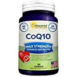 Pure CoQ10 (400mg Max Strength, 200 Capsules) - High Absorption Coenzyme Q10 Ubiquinone Supplement Pills, Extra Antioxidant CO Q-10 Enzyme Vitamin Tablets, COQ 10 for Healthy Blood Pressure & Heart