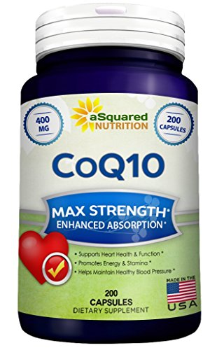 Pure-CoQ10-400mg-Max-Strength-200-Capsules-High-Absorption-Coenzyme-Q10-Ubiquinone-Supplement-Pills-Extra-Antioxidant-CO-Q-10-Enzyme-Vitamin-Tablets-COQ-10-for-Healthy-Blood-Pressure-Heart