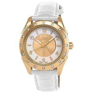 JBW Women's J6261LC Giana Unique Monotone Leather Diamond Watch
