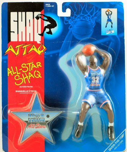 1993 - Kenner - Over-The-Top Collection - Shaq Attaq - All-star Shaq Action Figure - NBA All-Stars - Shaquille O'Neal - 7 inch - with Base - New - Out of Production - Rare - Collectible