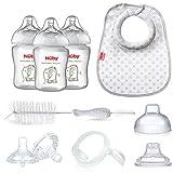 Nuby Natural Touch 92622 Kit de alimentación con biberón del recién nacido (Starter) 0 meses Fácil Latch 3 Etapas
